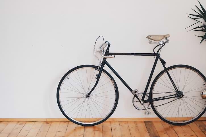 Fahrrad in Wohnung